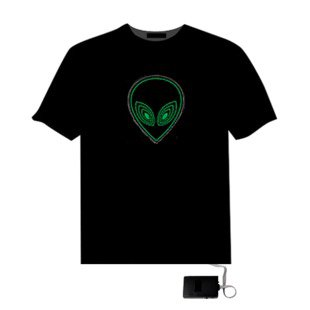 EL LED T-Shirt Light Glowing Figure - ET Face (Size L)