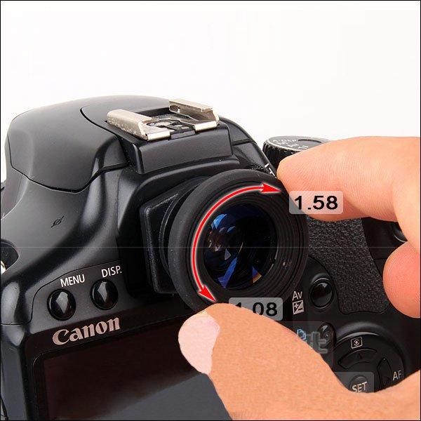 1.08x-1.58x Zoom Magnifier Eyepiece Eyecup Viewfinder for Canon Nikon Sony Pentax Olympus
