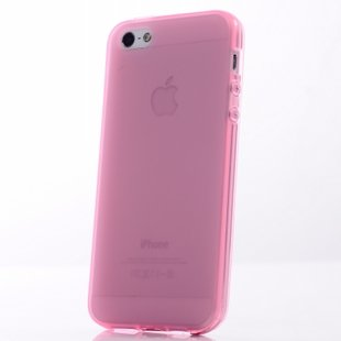 Translucent Pink Color Slim Case for iPhone 5 5G Cover Shell