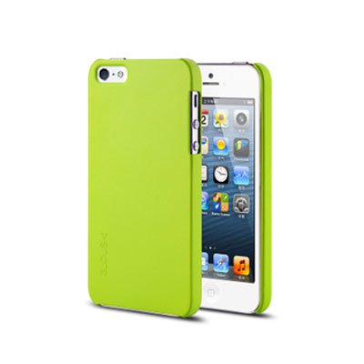 Spray Color Soft Case for iPhone 5 5G Slim Protective Shell Cover - Green