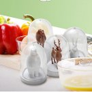 Artistic Kitchen Castor Animal Figure Shaker 4 Bottles Set Gift