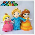 3X Super Mario Bros Plush Princess Peach Daisy Rosalina Toy Stuffed plush Doll