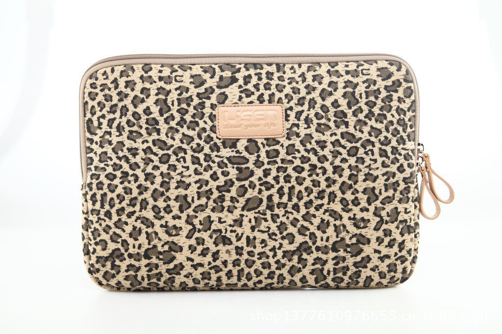 """13.3"""" Canvas Leopard Laptop Cover Shakeproof Case for MacBook DELL ThinkPad SONY HP SAMSUNG"""