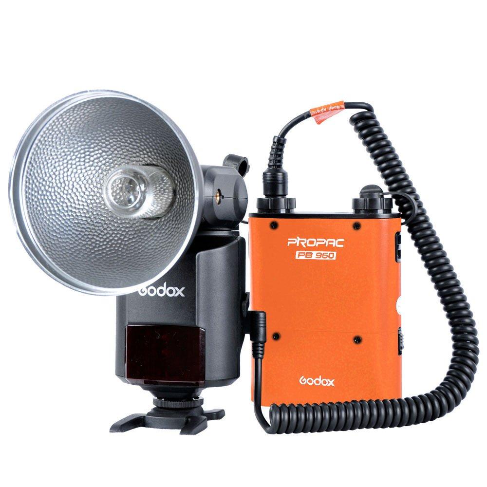 Godox Witstro AD360 AD-360 Bare Tube Outdoor Flash Speedlite + PB960 Battery Power Pack (Orange)