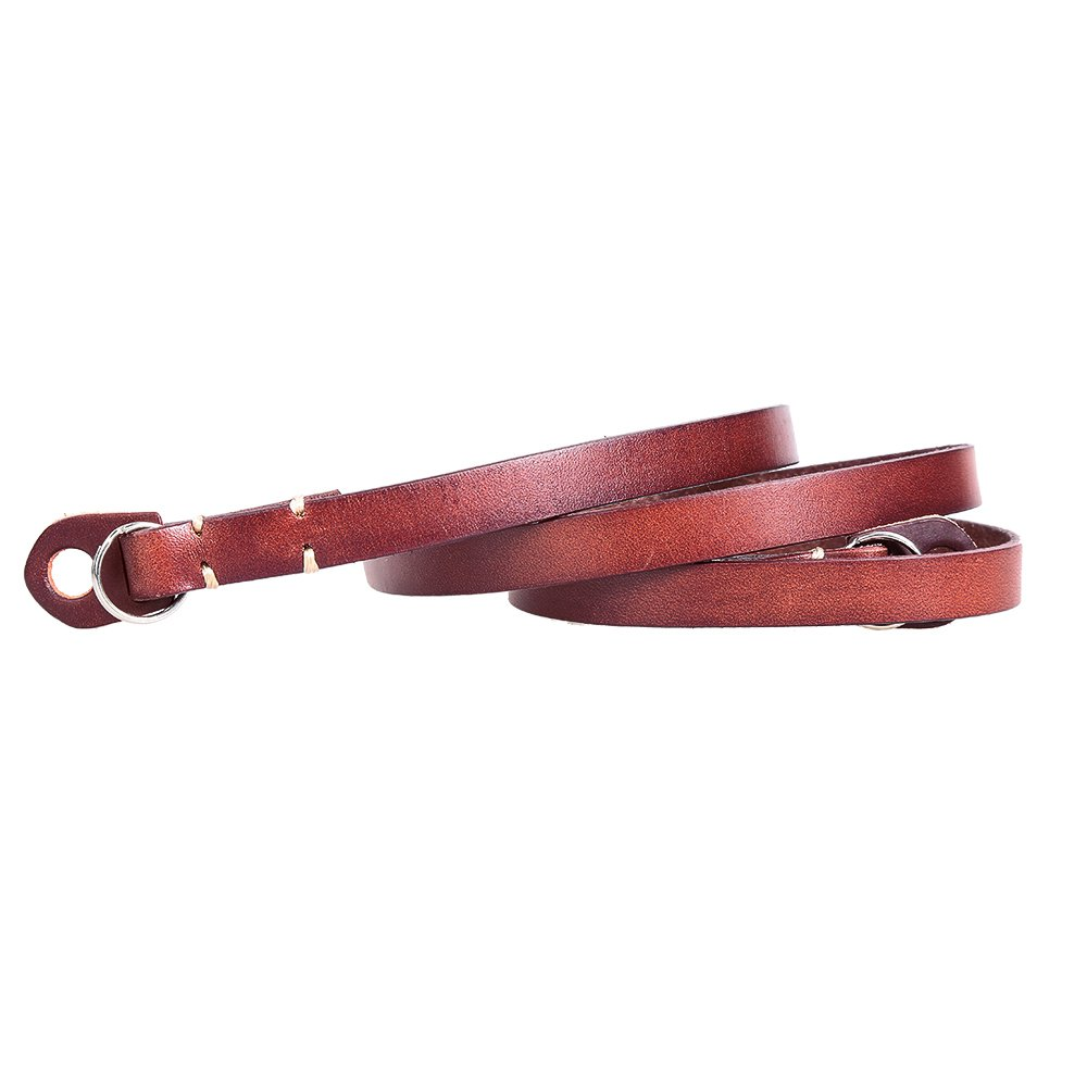 CANPIS Genuine Leather Camera Neck Shoulder Strap for Mirrorless DSLR Canon Sony Leica Olympus Brown