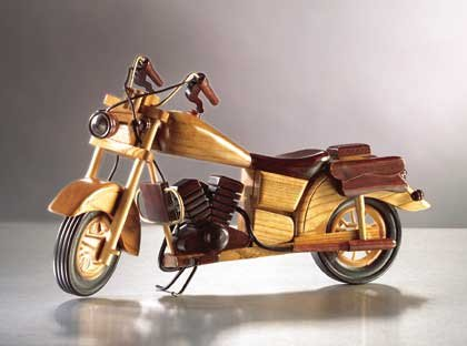 Wood Model Motorcycle 1ct