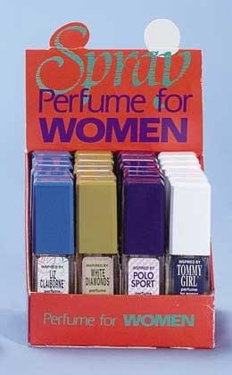 Lady's Spray Perfume On Display 24ct
