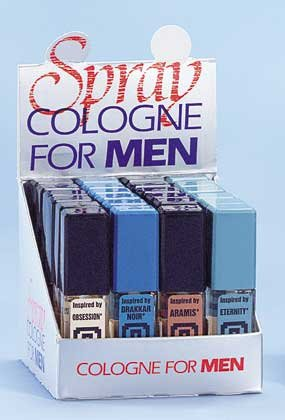 Man's Cologne On Display 24ct