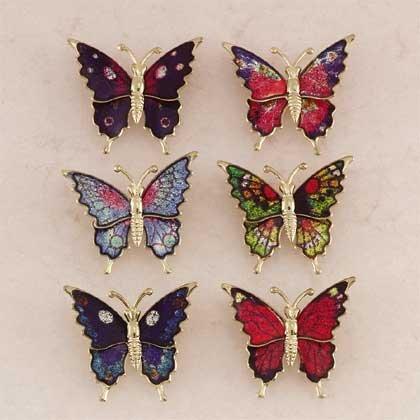 Brass Butterfly Pins 24ct