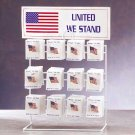 American Flag Pin Display 96ct