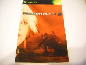Manual ONLY ~  for Dead or Alive 3   Xbox
