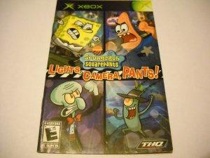 Manual ONLY ~  for SpongeBob Squarepants Lights, Camera, Pants   Xbox