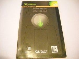 Manual ONLY ~ Star Wars Jedi Knight Jedi Academy - Booklet Xbox