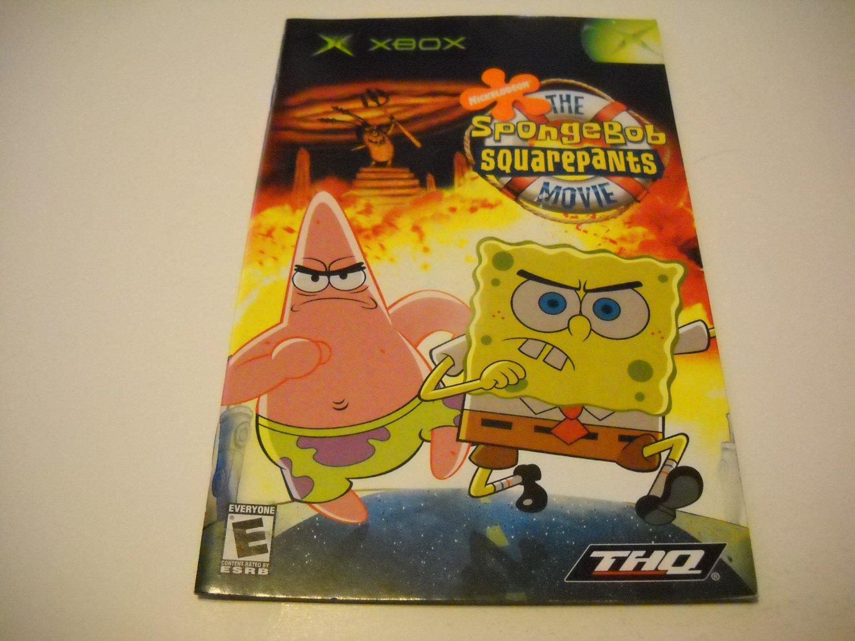 Manual ONLY ~  for The Spongebob Squarepants Movie   Xbox