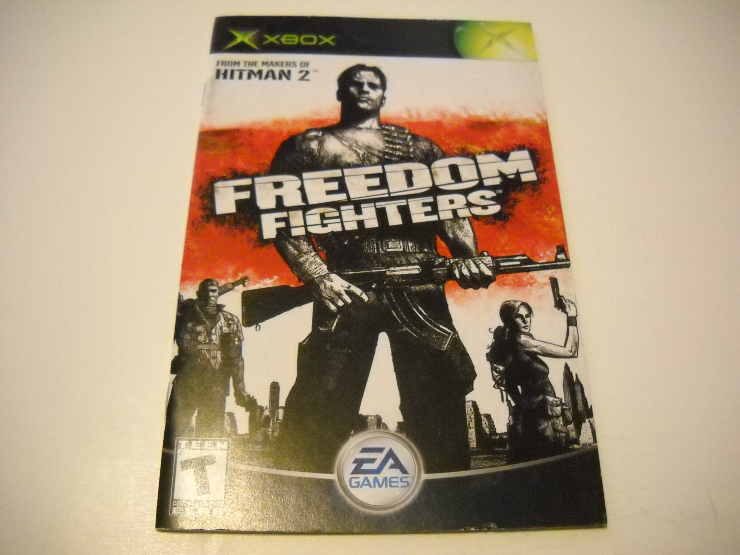 Manual ONLY ~  for Freedom Fighters   Xbox