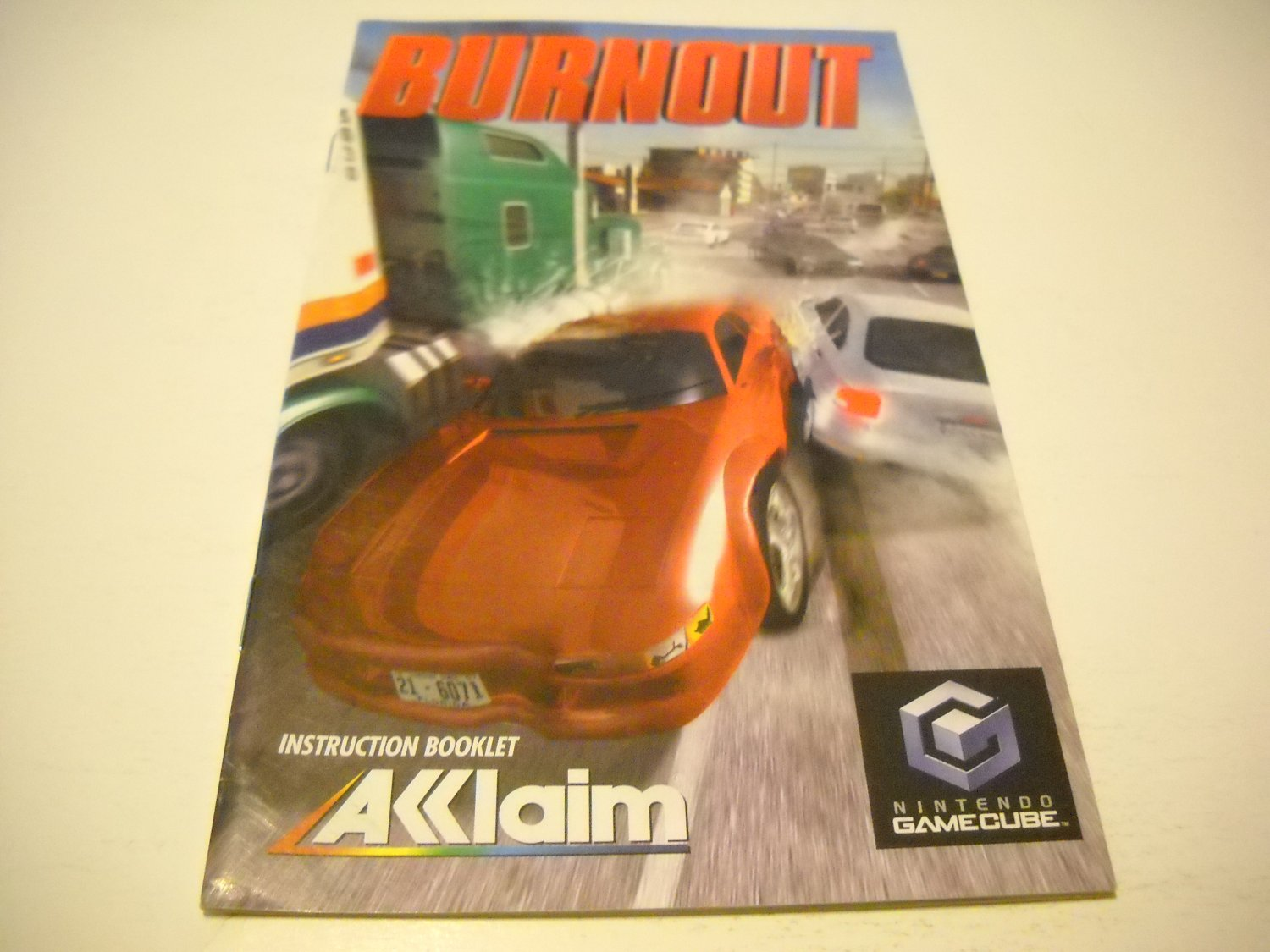 Manual ONLY ~  for Burnout   Gamecube