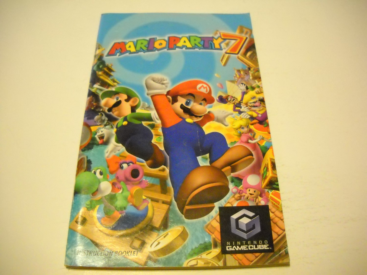 Manual ONLY ~  for Mario Party 7 - Instruction Booklet Gamecube
