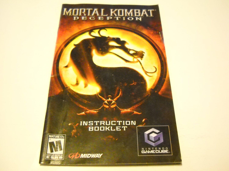 Manual ONLY ~  for Mortal Kombat Deception   Gamecube
