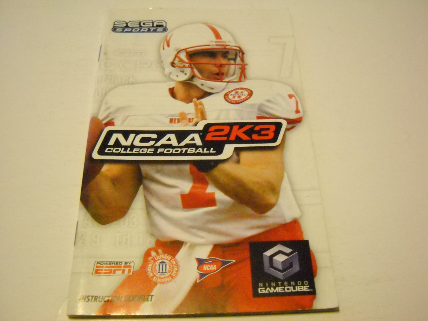 Manual ONLY ~  for NCAA College Football 2K3   Gamecube