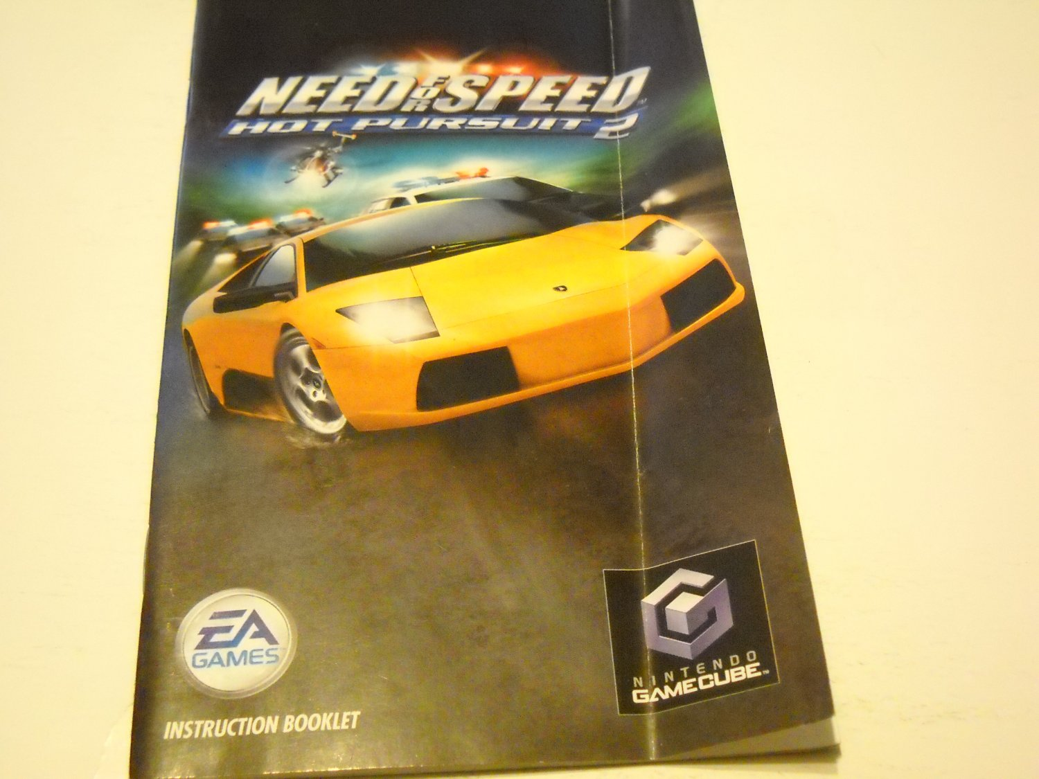 Manual ONLY ~  for Need for Speed Hot Pursuit 2   Gamecube