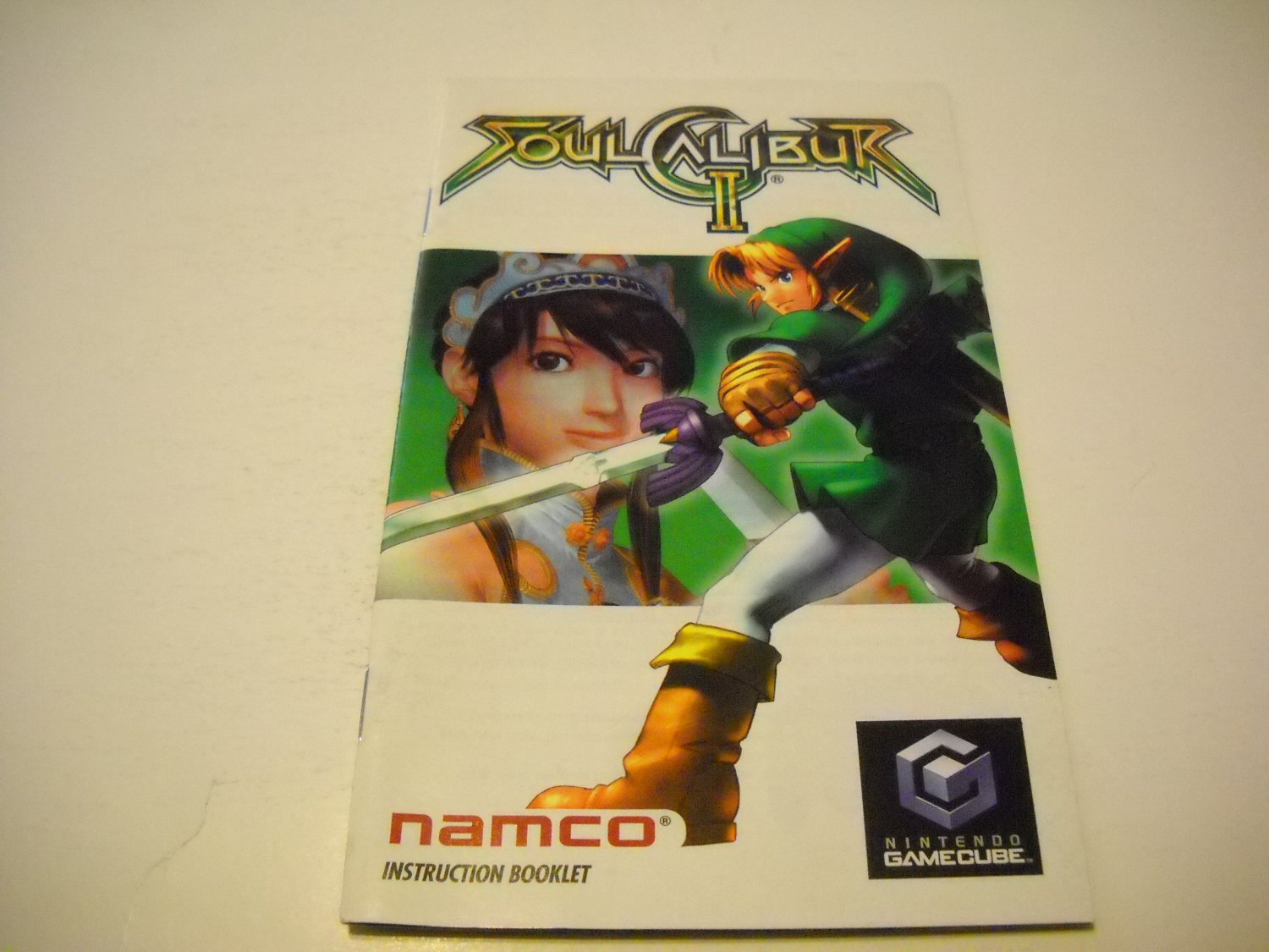 Manual ONLY ~  for Soul Calibur 2 / II   Gamecube