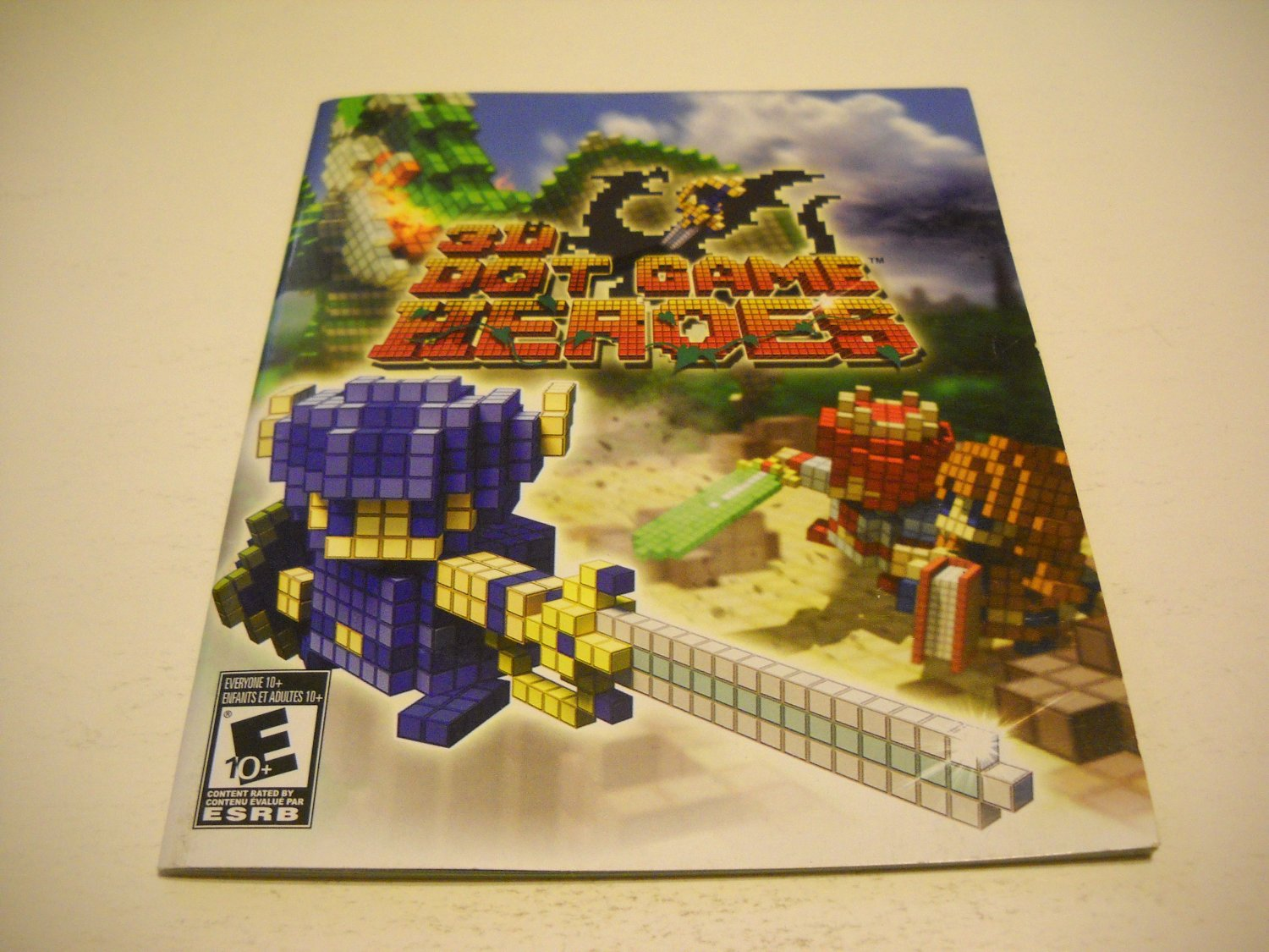 Manual ONLY ~  for 3D Dot Game Heroes , PS3