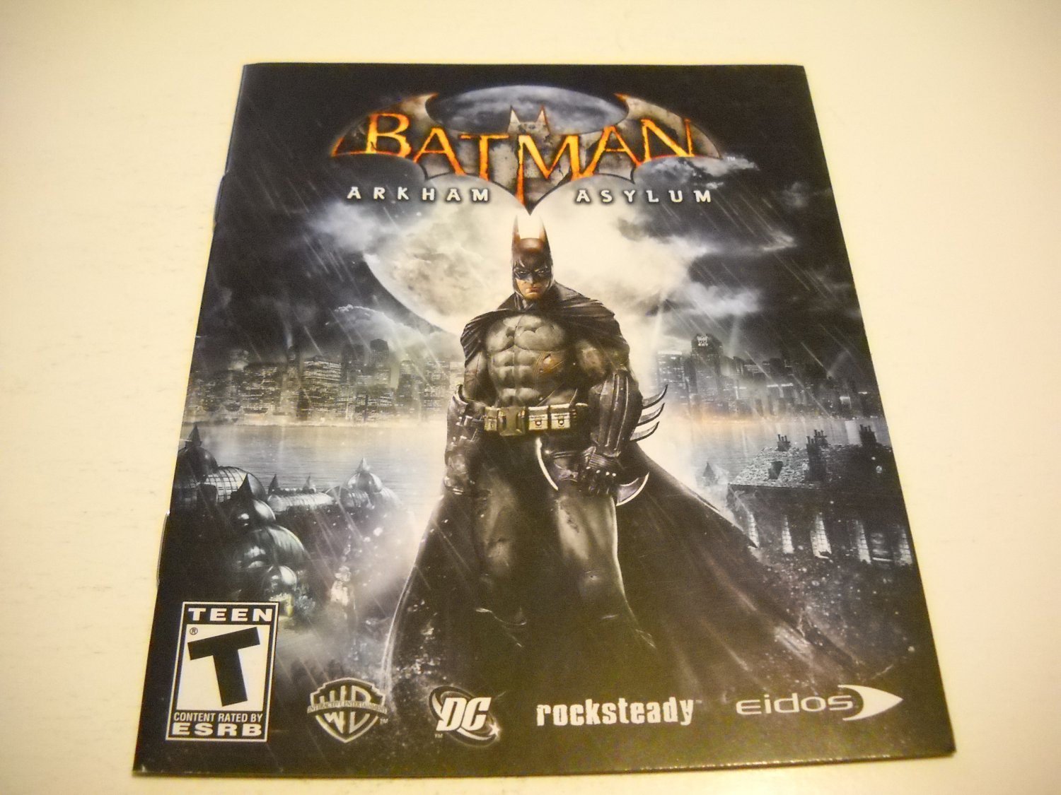 Manual ONLY ~  for Batman Arkum Asylum , PS3