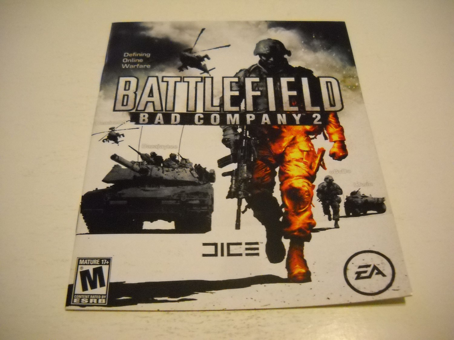 Manual ONLY ~  for Battlefield Bad Company 2 , PS3