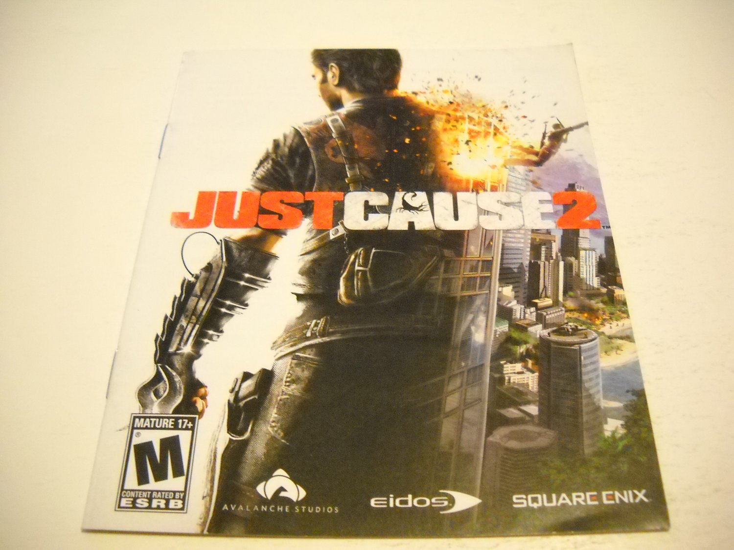 Manual ONLY ~  for Just Cause 2 , PS3
