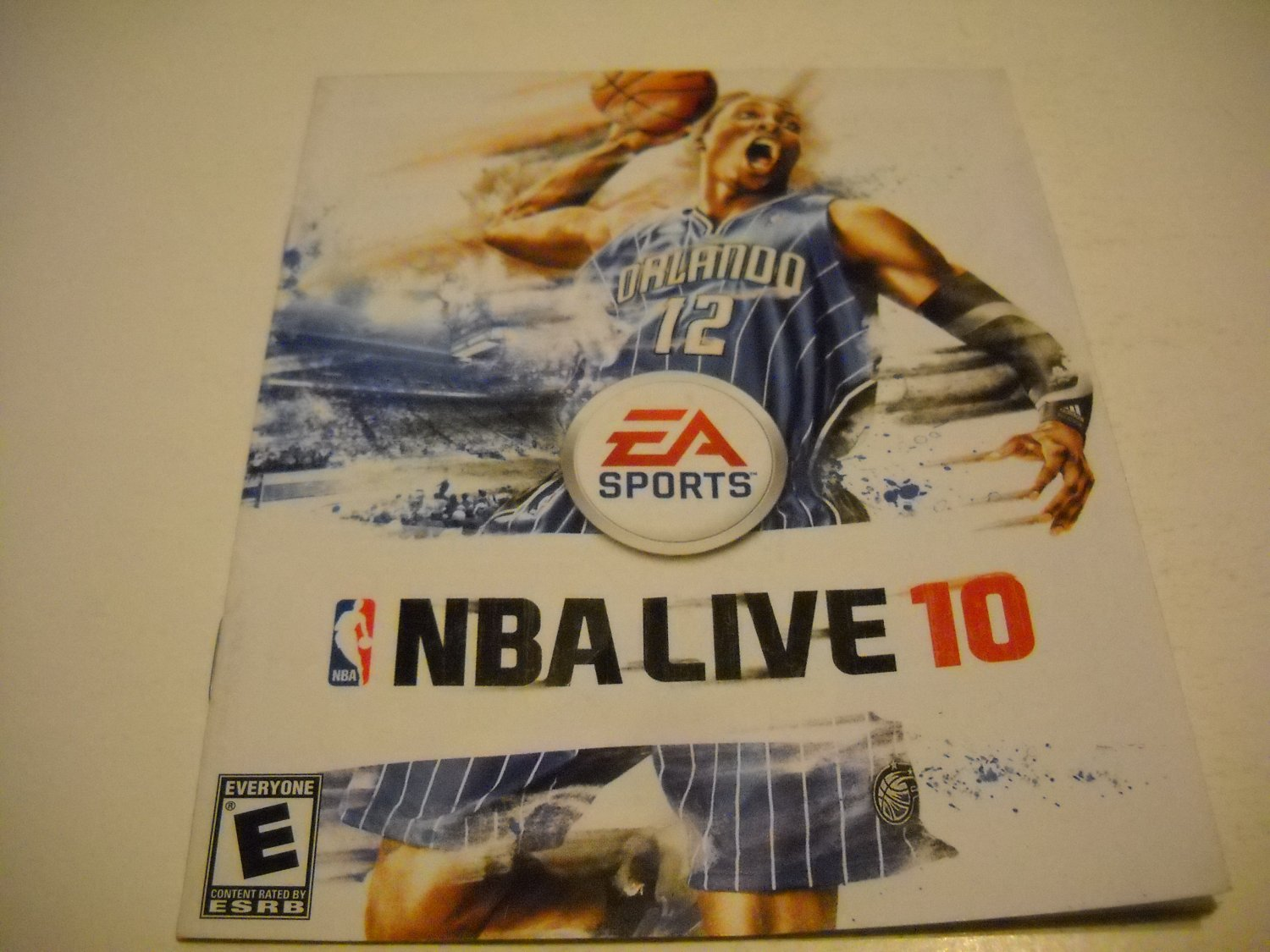 Manual ONLY ~  for NBA Live 10 , PS3