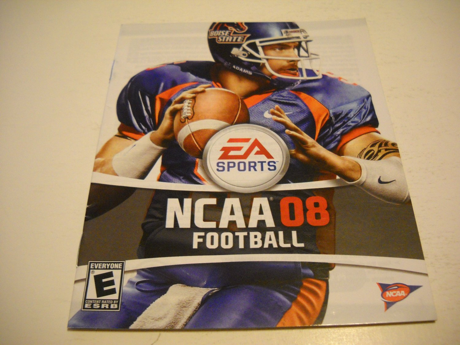 Manual ONLY ~  for NCAA Football 08 , PS3
