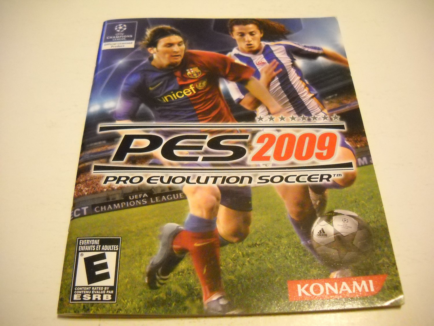Manual ONLY ~  for Pro Evolution Soccer 2009 PES , PS3