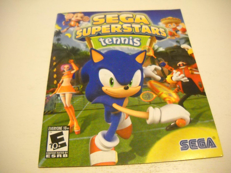 Manual ONLY ~  for Sega Superstar Tennis , PS3