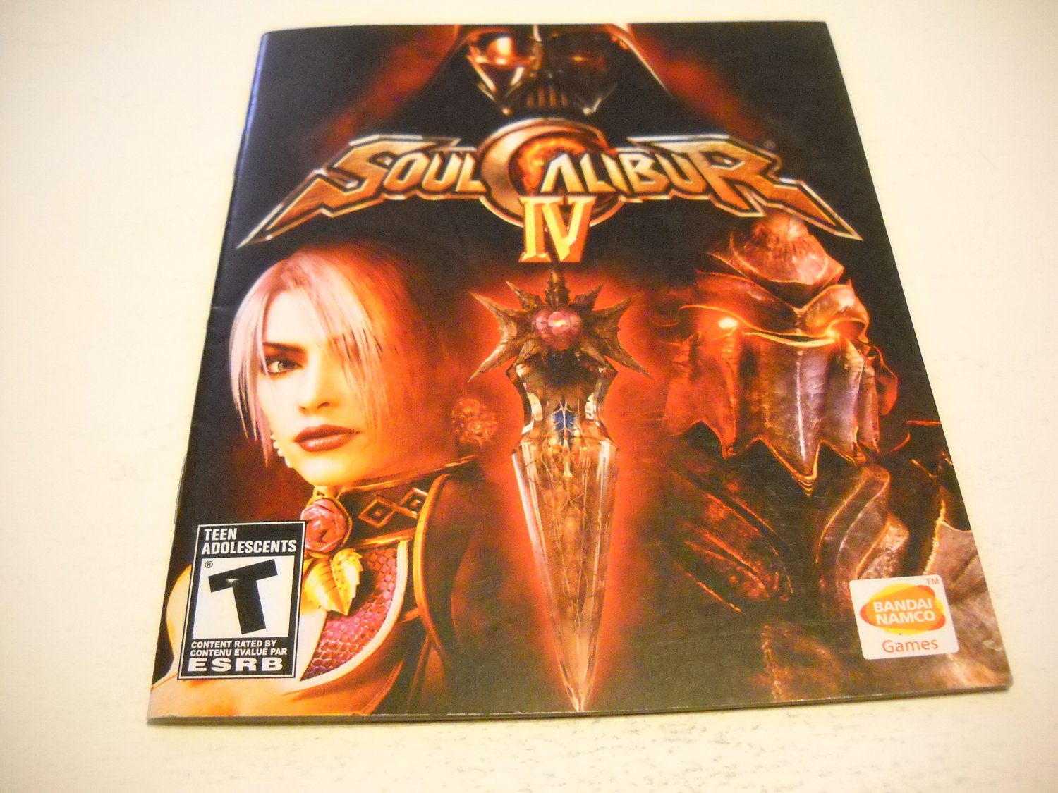 Manual ONLY ~  for Soul Calibur VI / 4 , PS3