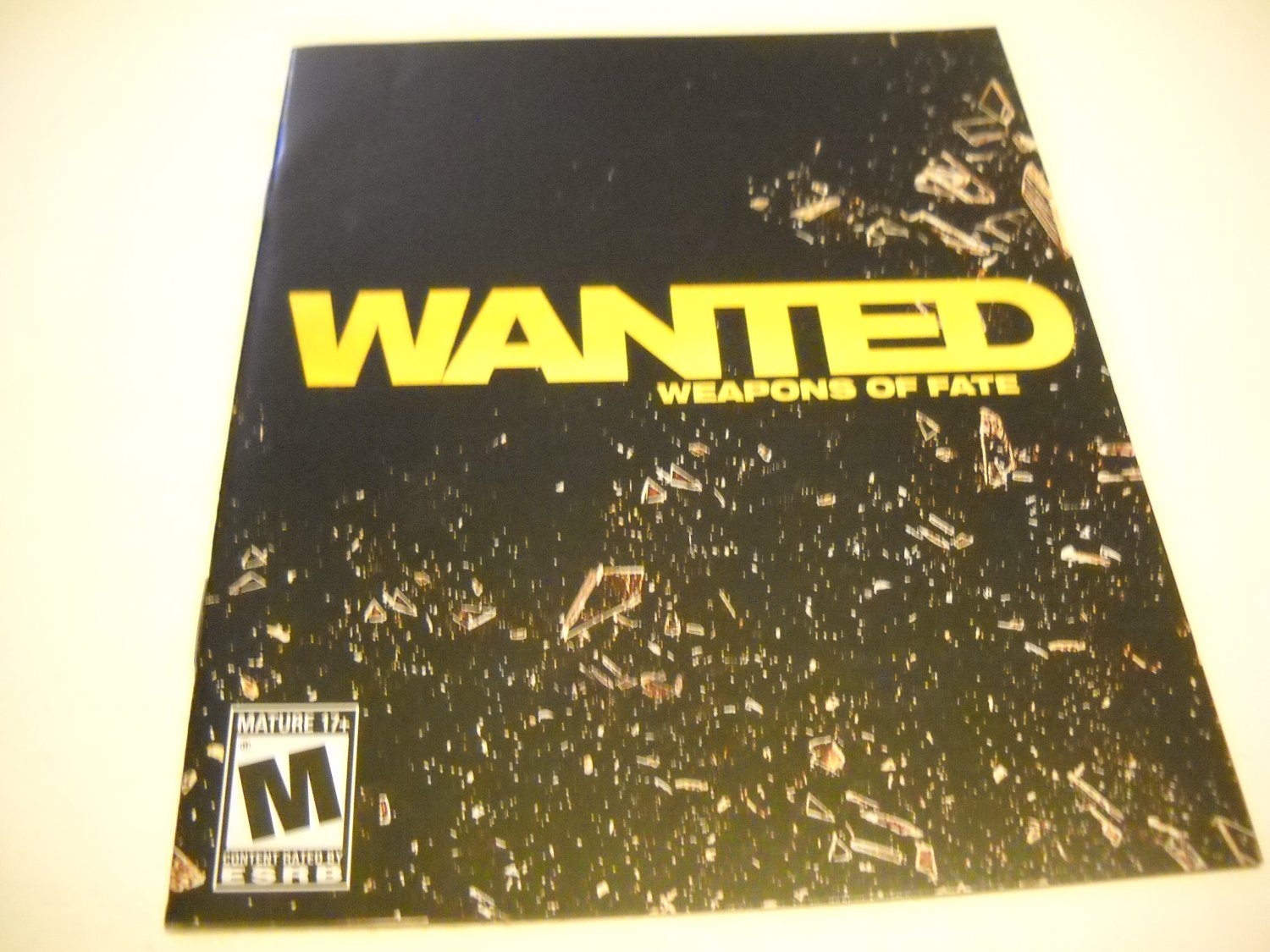 Manual ONLY ~  for Wanted Weapons of Fate , PS3