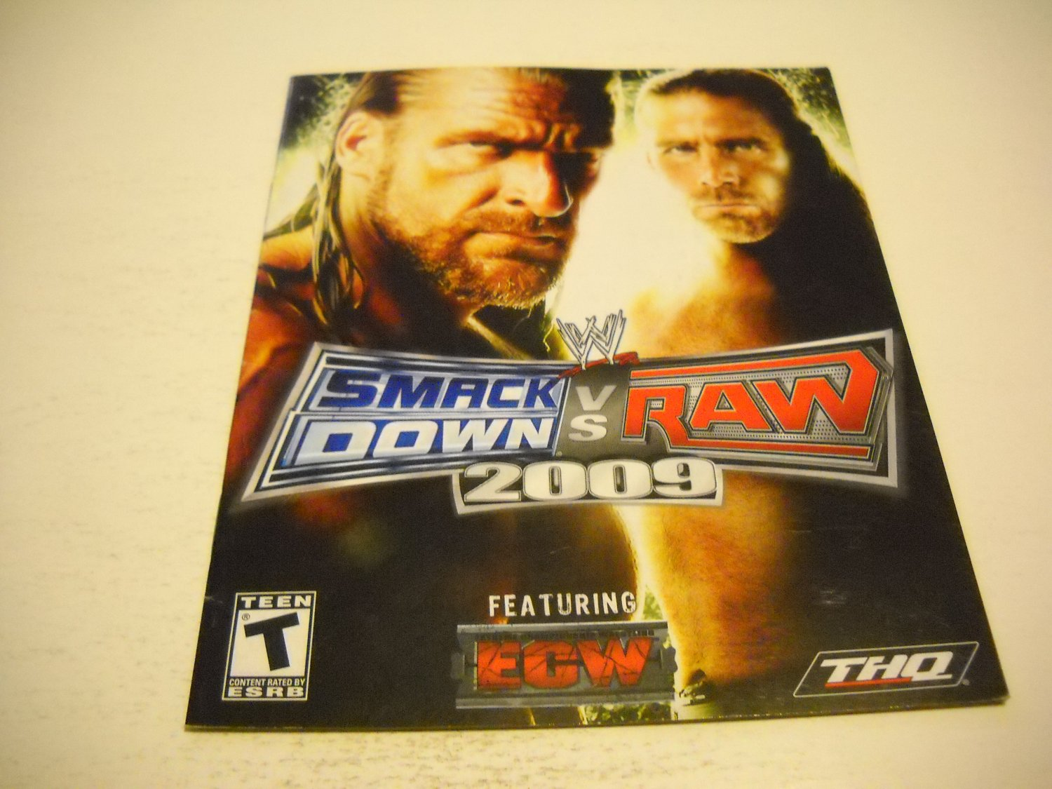 Manual ONLY ~  for WWE Smack Down vs. Raw 2009 , PS3