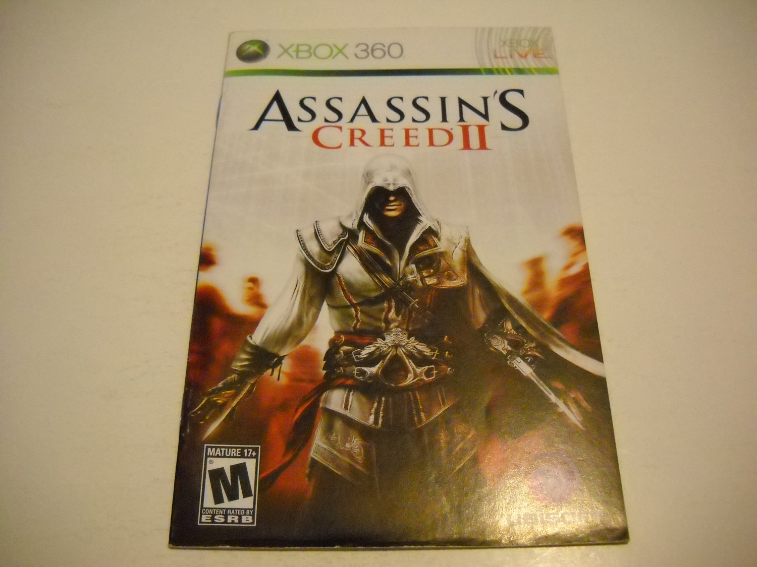 Manual ONLY ~  for Assassin's Creed II / 2   - Xbox 360 Instruction Booklet