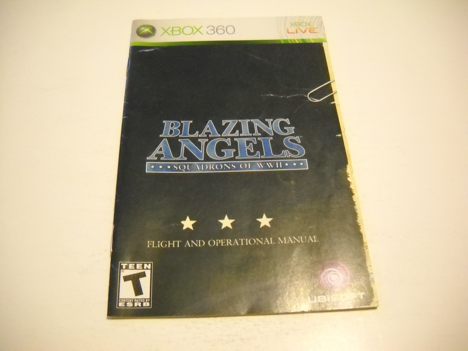 Manual ONLY ~  for Blazing Angels Squadrons of WWII   - Xbox 360 Instruction Booklet