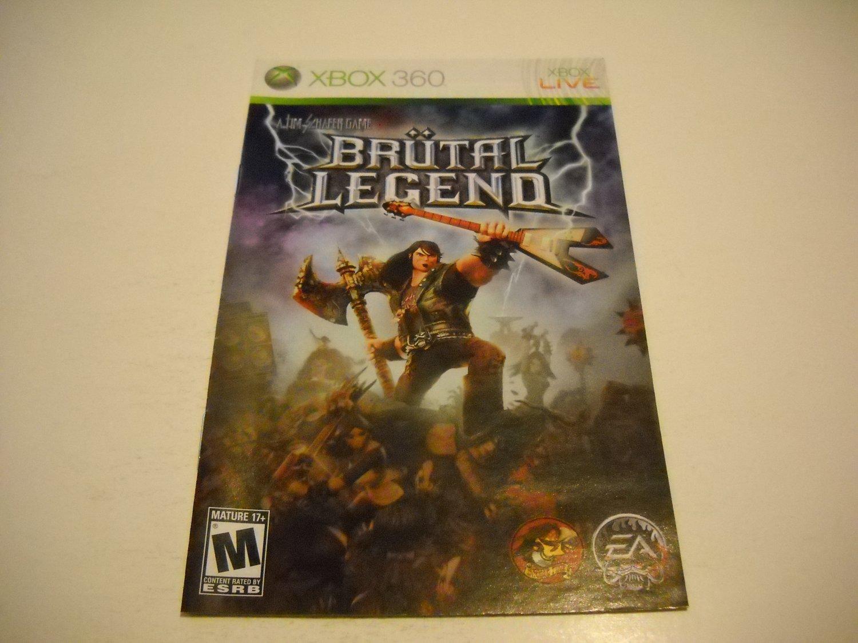 Manual ONLY ~  for Brutal Legend   - Xbox 360 Instruction Booklet