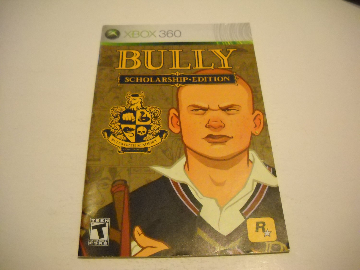 Manual ONLY ~  for Bully Scholarship Edition   - Xbox 360 Instruction Booklet