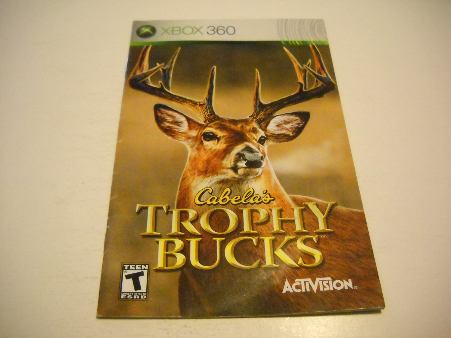 Manual ONLY ~  for Cabela's Trophy Bucks   - Xbox 360 Instruction Booklet