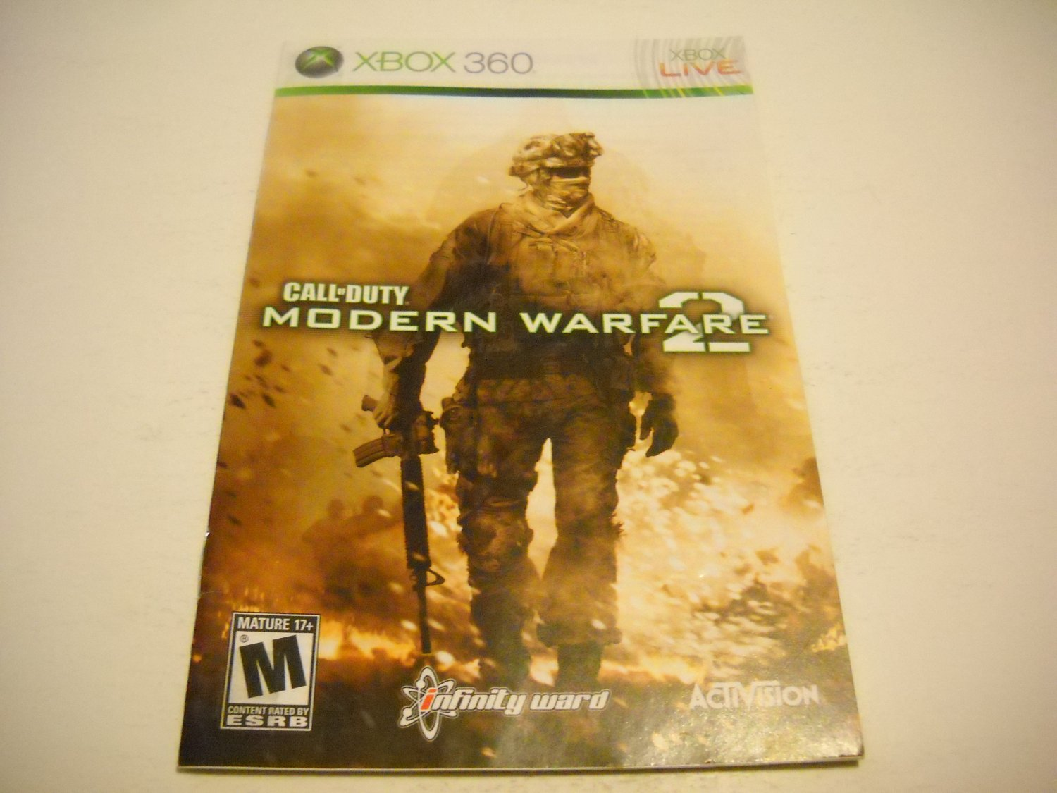 Manual ONLY ~  for Call of Duty Modern Warfare 2   - Xbox 360 Instruction Booklet