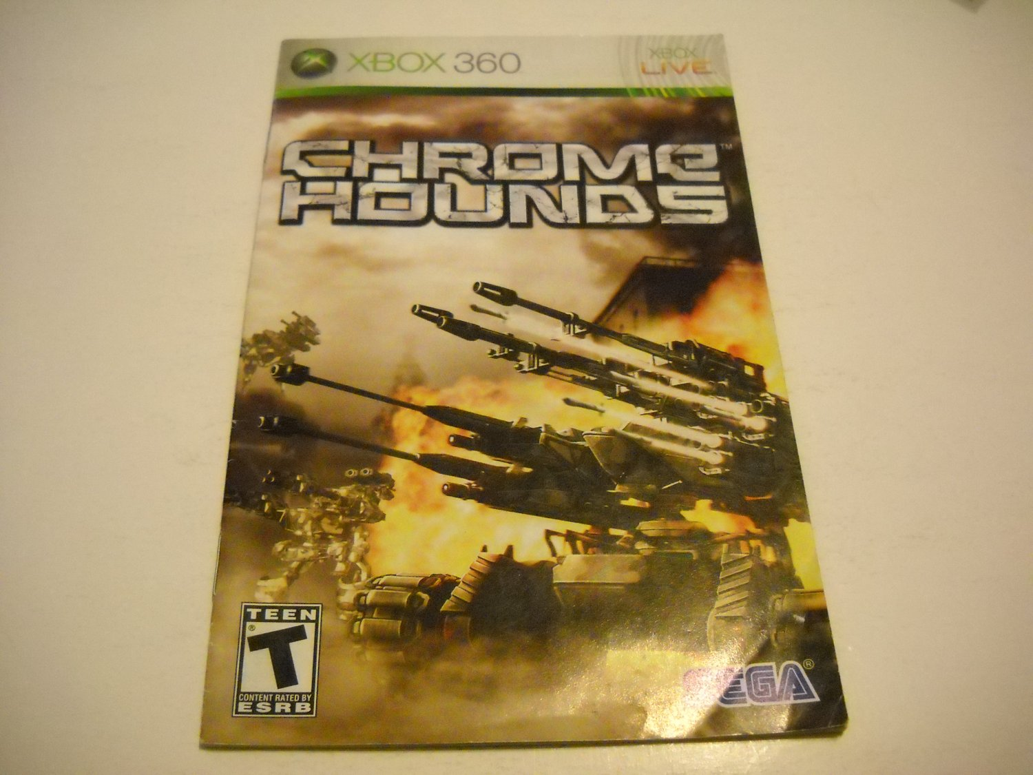 Manual ONLY ~  for Chrome Hounds   - Xbox 360 Instruction Booklet