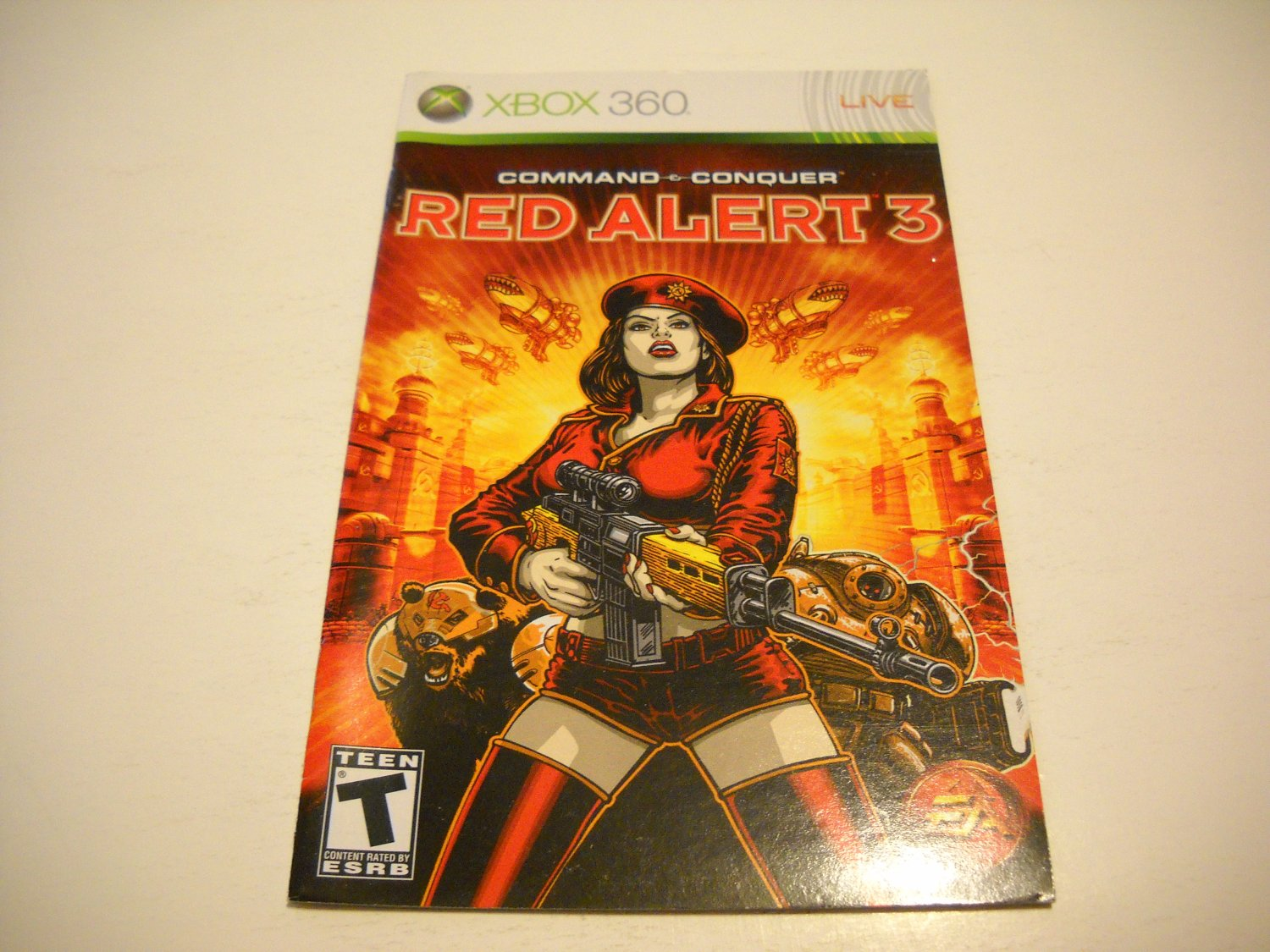 Manual ONLY ~  for Command and Conquer Red Alert 3   - Xbox 360 Instruction Booklet