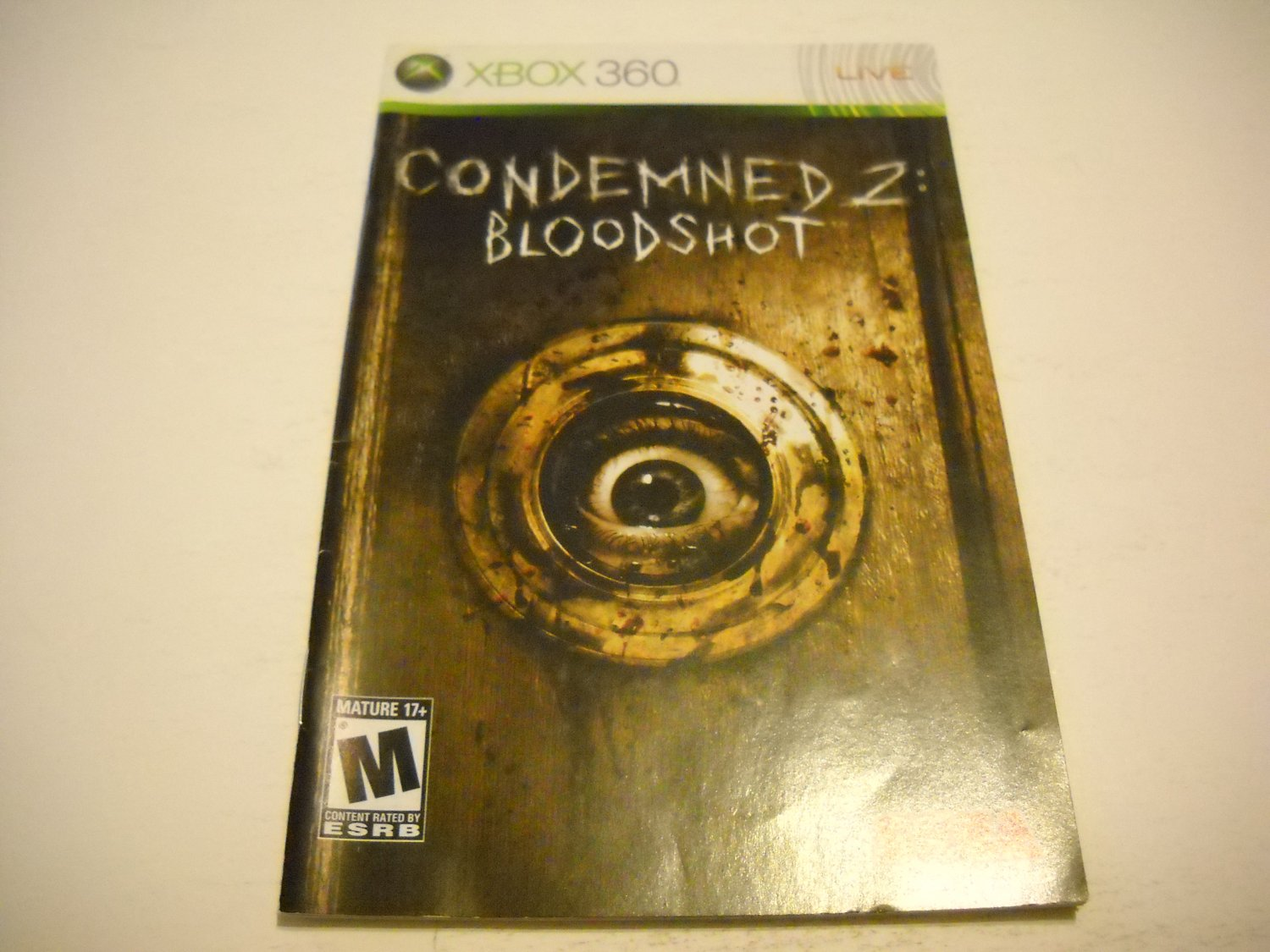 Manual ONLY ~  for Condemned 2 Bloodshot   - Xbox 360 Instruction Booklet