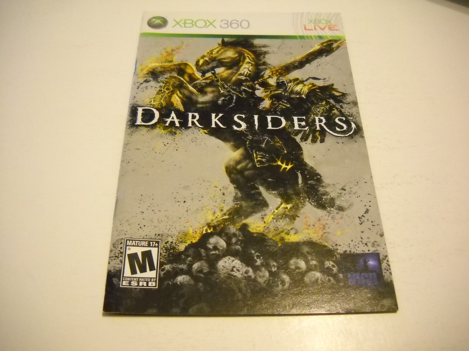 Manual ONLY ~  for Darksiders   - Xbox 360 Instruction Booklet
