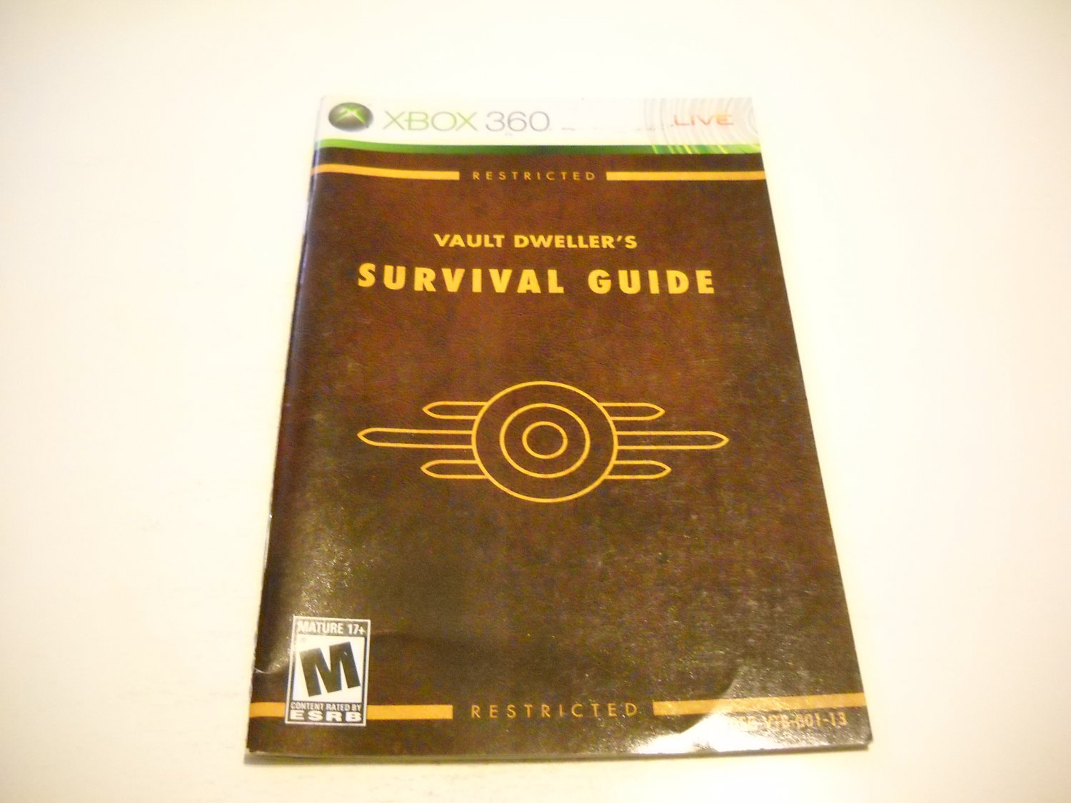 Manual ONLY ~  for Fallout 3   - Xbox 360 Instruction Booklet