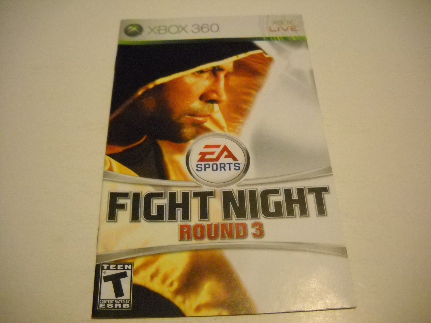 Manual ONLY ~  for Fight Night Round 3   - Xbox 360 Instruction Booklet