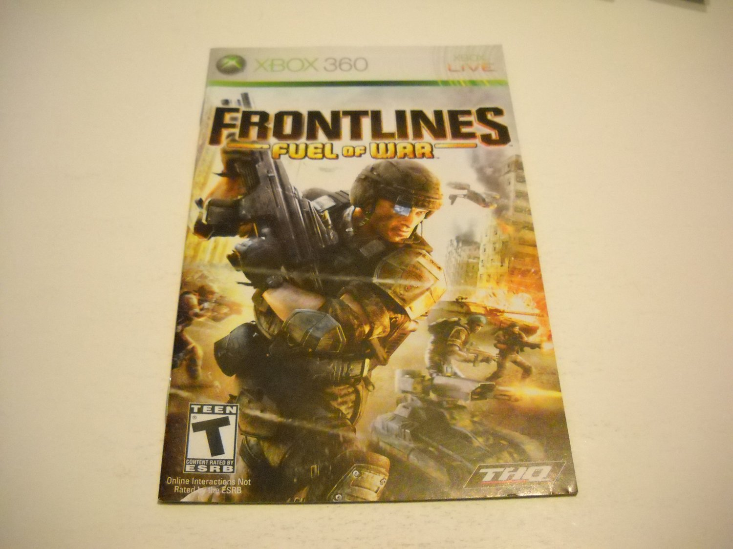 Manual ONLY ~  for Frontlines Fuel of War   - Xbox 360 Instruction Booklet