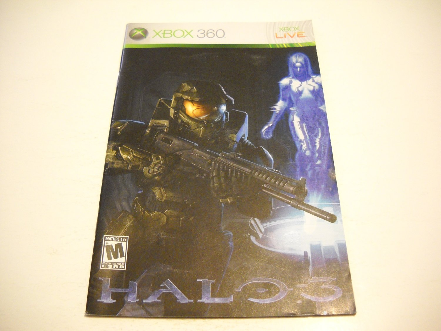 Manual ONLY ~  for Halo 3   - Xbox 360 Instruction Booklet